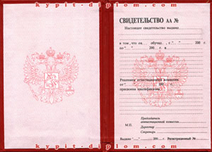Свидетельство России об окончании коммерческих ВУЗов 2000-2006 годов